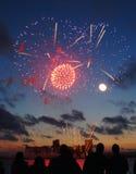 Feuerwerk-Bildschirmanzeige Lizenzfreies Stockbild
