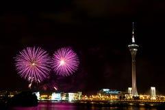 Feuerwerk-Bildschirmanzeige-Wettbewerb stockfotografie