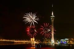 Feuerwerk-Bildschirmanzeige-Wettbewerb stockfotos