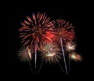 Feuerwerk in der Feier Stockfotografie