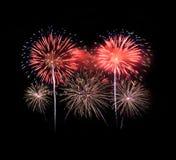 Feuerwerk in der Feier Stockbilder