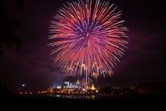 Feuerwerk an der königlichen Flora Lizenzfreies Stockbild