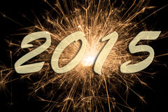 Feuerwerk 2015 des neuen Jahres Lizenzfreie Stockfotos