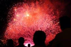 Feuerwerk-Erscheinen stockfoto