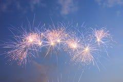Feuerwerk fünf Stockbilder