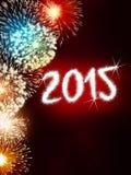 Feuerwerk 2015 guten Rutsch ins Neue Jahr Lizenzfreie Stockfotos