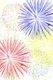 Feuerwerk-Hintergrund Lizenzfreie Stockfotografie