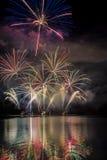 Feuerwerk ignis brunensis stockfotografie