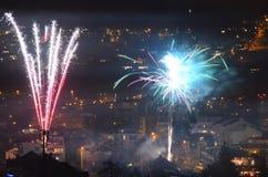 Feuerwerk Innsbruck 6 des neuen Jahres Stockfoto