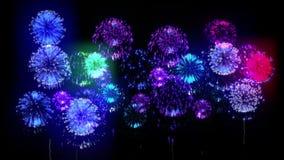 Feuerwerk 4K Feiertagsfeuerwerke CG, 3d übertragen Version 19 stock footage