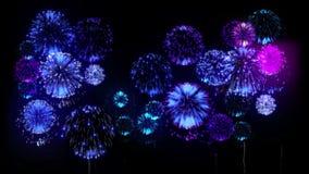 Feuerwerk 4K Feiertagsfeuerwerke CG, 3d übertragen Version 17 stock footage