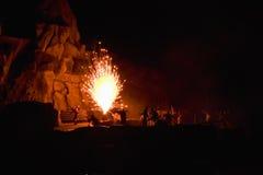 Feuerwerk-Kampf-Stufe-Erscheinen stockfoto