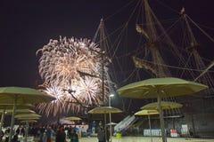 Feuerwerk an Kanada-Tag in Toronto AN Kanada Lizenzfreie Stockbilder