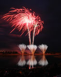 Feuerwerk-Konkurrenz 2008 Stockbild