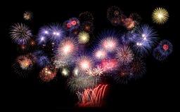 Feuerwerk, neues Jahr Lizenzfreie Stockfotografie