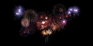Feuerwerk, neues Jahr Stockbilder