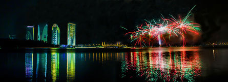 Feuerwerk, Putrajaya Malaysia III Stockbild