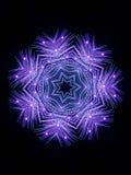 Feuerwerk-Schneeflocke Stockfotos
