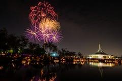 Feuerwerk in suanloung Park Thailand. Stockfotografie