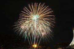 Feuerwerk in Thailand Stockbild