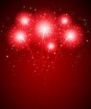 Feuerwerk und Sterne Lizenzfreie Stockfotografie