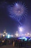 Feuerwerk Vladivostok des neuen Jahres Lizenzfreie Stockfotografie