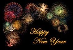 Feuerwerk während eines guten Rutsch ins Neue Jahr Lizenzfreies Stockbild