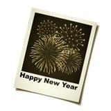 Feuerwerkaugenblickfoto des neuen Jahres Lizenzfreies Stockfoto