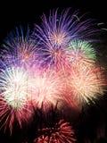 Feuerwerkbildschirmanzeige Lizenzfreies Stockfoto