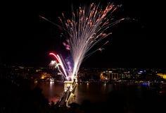 Feuerwerkbildschirmanzeige Stockfoto