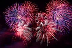Feuerwerkbildschirmanzeige. lizenzfreie stockfotos