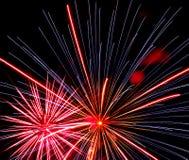 Feuerwerke über Iowa Lizenzfreies Stockbild