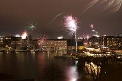 Feuerwerke über Kopenhagen Stockfoto