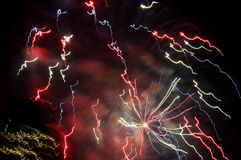 Feuerwerke über New York City Stockfoto