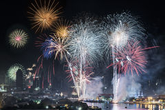 Feuerwerke 2015 Lizenzfreie Stockfotografie