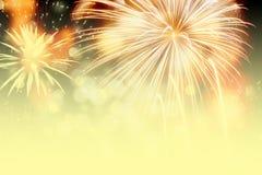 Feuerwerke am Abstand des neuen Jahres und der Kopie - abstraktes Feiertag backgrou Lizenzfreie Stockfotos