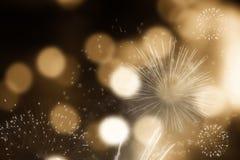 Feuerwerke am Abstand des neuen Jahres und der Kopie - abstraktes Feiertag backgrou Lizenzfreies Stockfoto