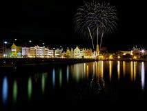 Feuerwerke auf Curaçao stockfoto