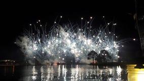 Feuerwerke auf dem Wasser Lizenzfreies Stockfoto