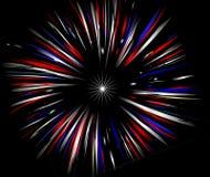 Feuerwerke auf Schwarzem Stockfoto