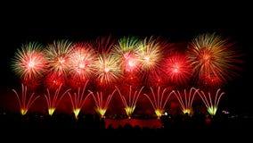 Feuerwerke am australischen Tag in Perth 2015 Stockbild