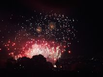 Feuerwerke bei Alexandra Palace Stockfotografie