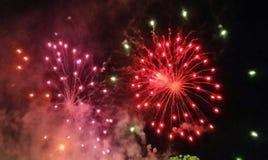Feuerwerke bei Dodger 's-Stadion Lizenzfreie Stockbilder