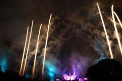 Feuerwerke bei Hong Kong Disneyland Lizenzfreie Stockfotografie