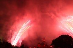 Feuerwerke bei Hong Kong Disneyland Lizenzfreies Stockbild