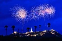 Feuerwerke bei Pranakorn Khiri Lizenzfreies Stockbild