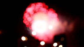 Feuerwerke Blured-Bild stock video