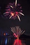 Feuerwerke in Brisbane - 2014 Lizenzfreie Stockfotografie
