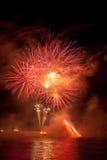Feuerwerke in den arles Stockbilder