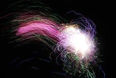 Feuerwerke der großen Höhe ab 2012 in Berlin, Deutschland Lizenzfreie Stockfotos